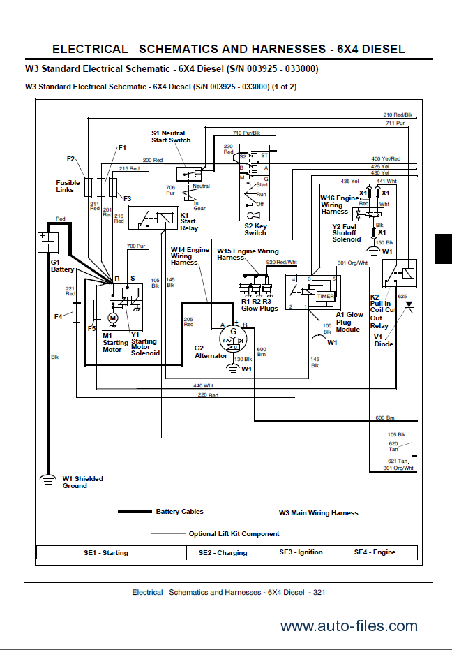 john deere gator utility vehicles 4x2 and 4x6 technical manual tm 1518 pdf jd 425 wiring diagram jd 425 tractor wiring diagram ~ odicis jd 425 wiring diagram at edmiracle.co