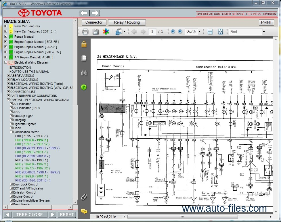 2008 Toyota Hiace Stereo Wiring Diagram : Wiring diagrams for toyota hiace
