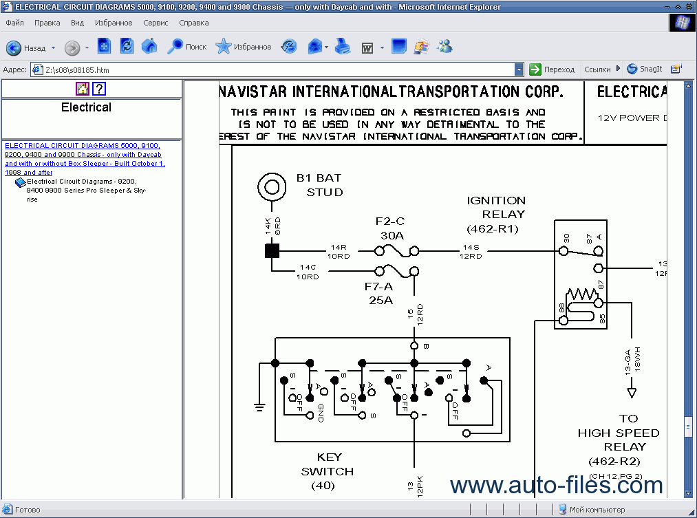 International Truck Isis 2009  Repair Manuals Download  Wiring Diagram  Electronic Parts Catalog