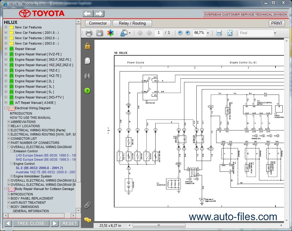 toyota hilux wiring diagram free download 2001 toyota echo wiring diagram free download