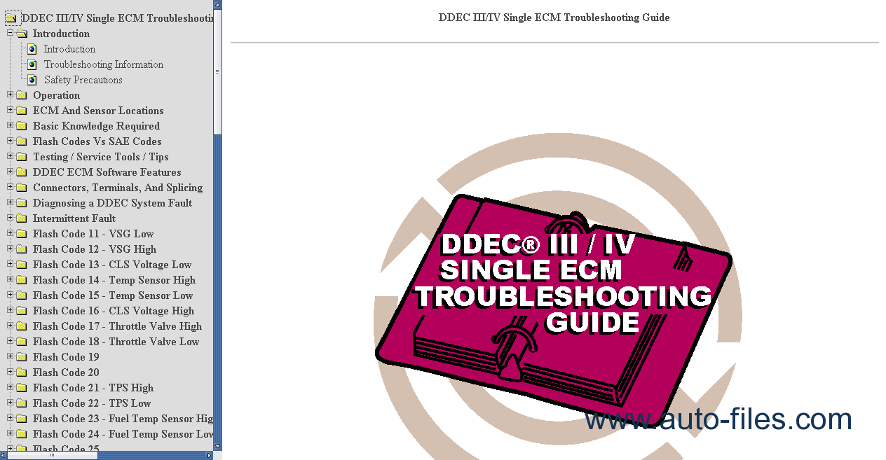 Detroit Diesel Ddec 1 Manual Series 60 Ecm Wiring Diagram Transmission Includes Bookmarks Searchable Text Index Fast Navigation Best Organization Topics Introduction Single Troubleshooting