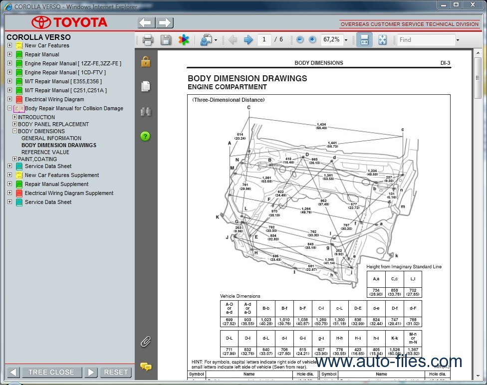 Toyota Corolla Verso  Repair Manuals Download  Wiring Diagram  Electronic Parts Catalog  Epc