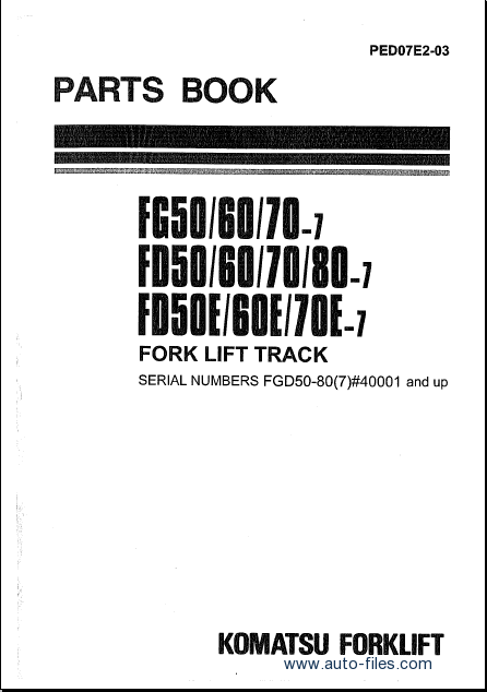 Komatsu Forklift  Spare Parts Catalog  Repair Manual Download  Wiring Diagram  Electronic Parts