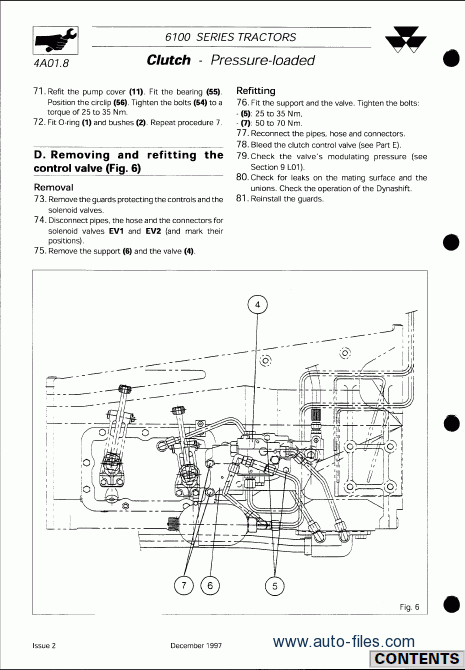 Massey Ferguson Tractors Series Workshop Manual on Massey Ferguson Online Parts Diagram