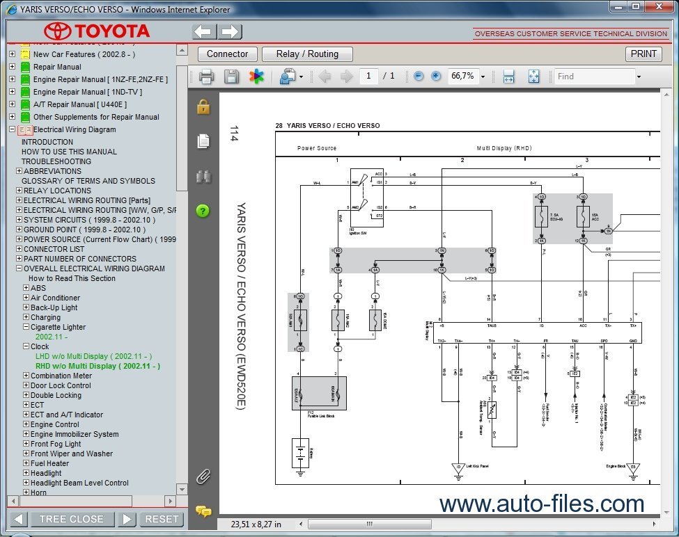 Electrical Wiring Diagram Toyota Yaris 2007 : Yaris headlight wire diagram wiring images