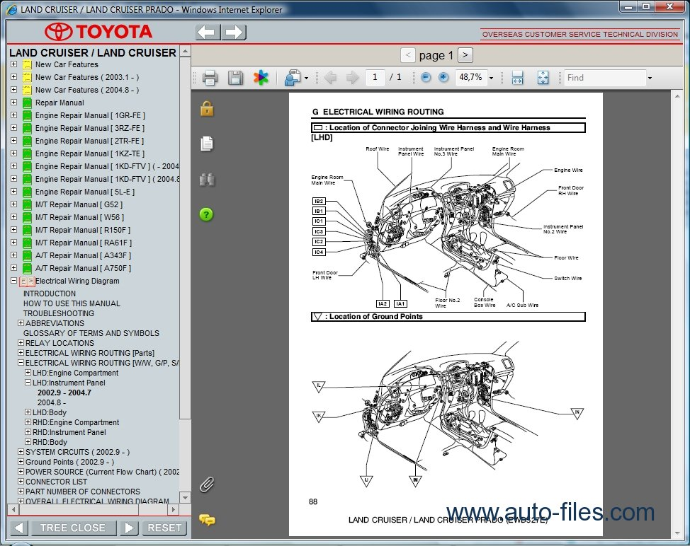 toyota land cruiser prado repair manuals download basic home wiring diagrams