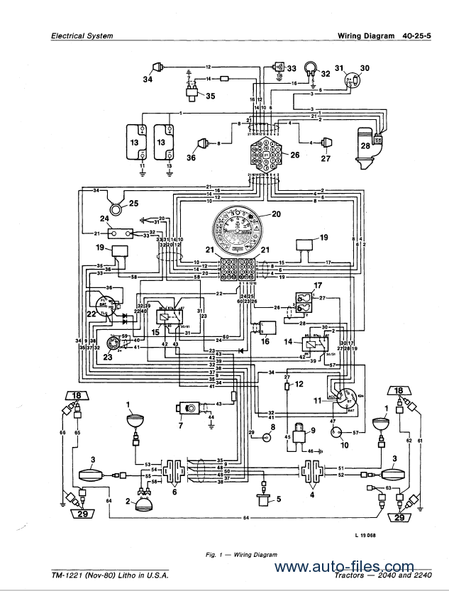john deere 2040 ignition switch wiring diagram