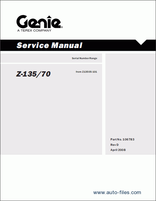 Genie Forklifts Service Manuals  Repair Manuals Download  Wiring Diagram  Electronic Parts