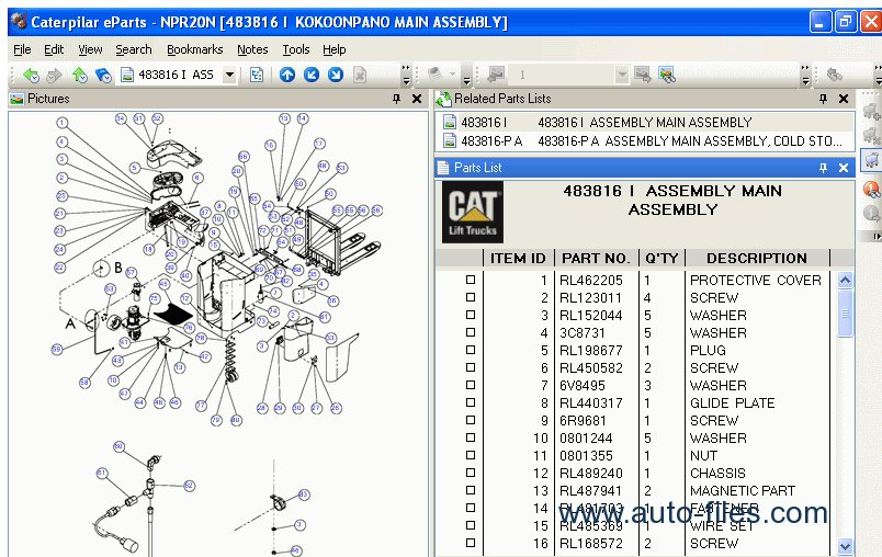 Caterpillar Forklift Parts Diagram on x300 wiring diagram