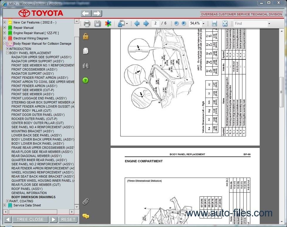Toyota Mr2  Repair Manuals Download  Wiring Diagram
