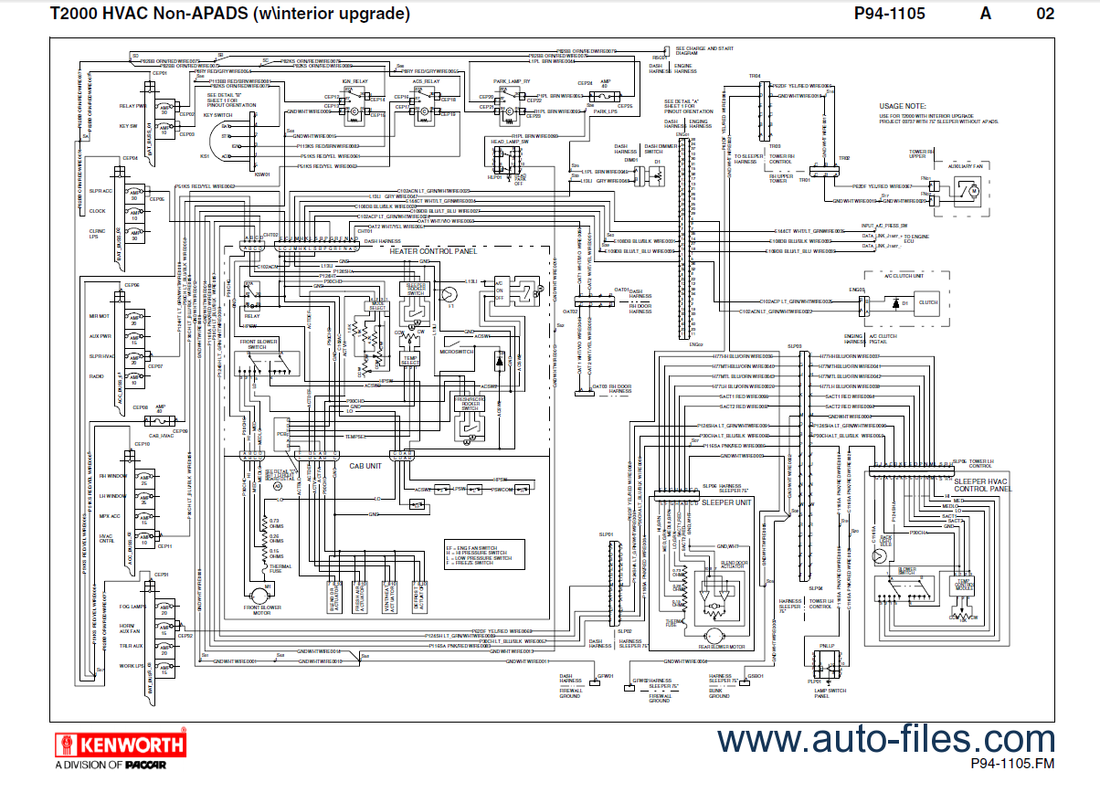 Kenworth Hvac Wiring Diagram : Kenworth hvac wiring headlight