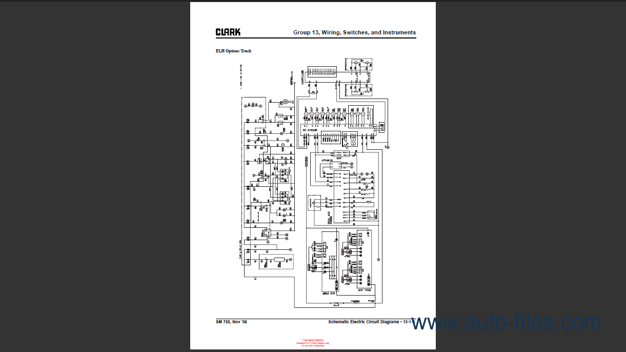 Clark C25c Wiring Diagram Library 86 Chevy C10 Switch C Five Ys80 Diagrams Data Base Toro