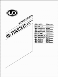 repair manuals Nissan UD Trucks 1300, 1400, 1800, 2000, 2300, 2600, 3300
