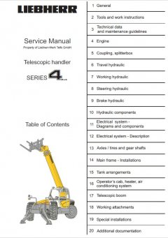 repair manuals Liebherr TL441-451 Telescopic Handler Series 4 Litronic Service Manual PDF