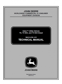 repair manuals John Deere Gator Utility Vehicle TS 6x4 & TH 6x4 Diesel Technical Manual TM2239 PDF