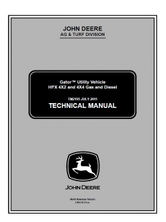 repair manuals John Deere Gator Utility Vehicle HPX 4x2 4x4 Gas Diesel Technical Manual TM2195 PDF
