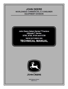 repair manuals John Deere Select Series Tractors Ultimate X700 X720 X724 X728 TM2349 Technical Manual PDF