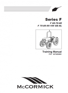repair manuals McCormick Landini F 60-70-80 F 75-85-95-105 GE-XL Tractors Series F Training Manual PDF