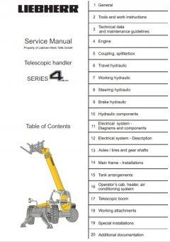 repair manuals Liebherr TL435-442-445 Telescopic Handler Series 4 Litronic Service Manual PDF