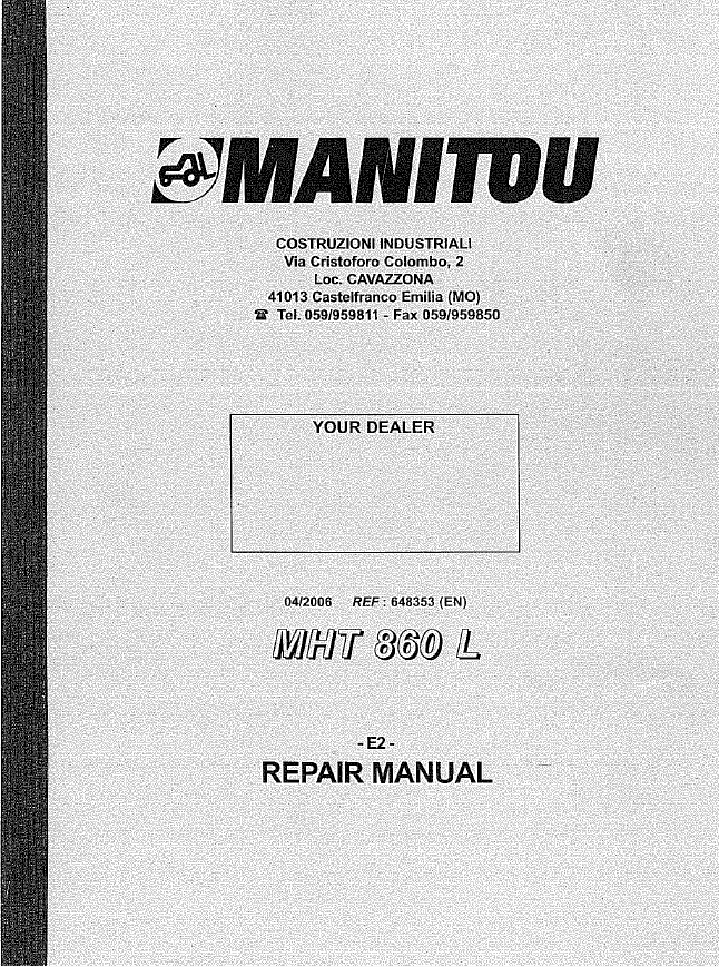 manitou mh25 4t service manual