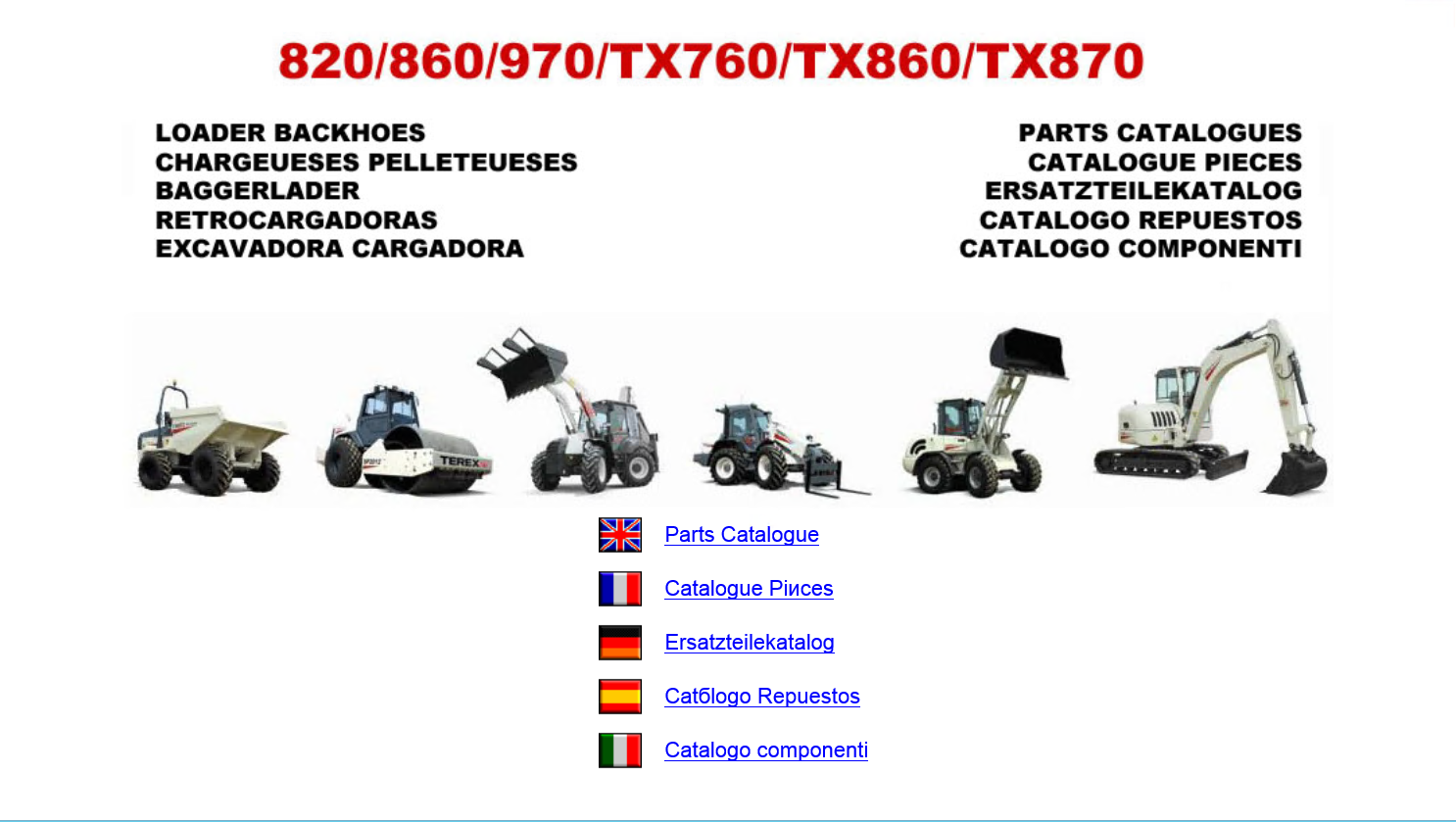 Terex Americas  U0026 Fermec Loader Backhoes Parts Catalogues