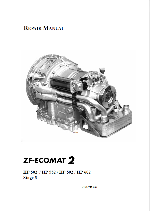 Zf Ecomat 2 Hp502    Hp552    Hp592    Hp602 Repair Manual Pdf