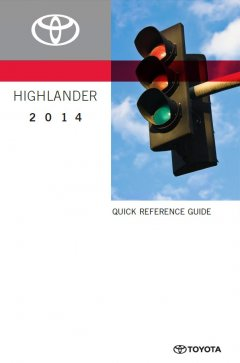 repair manuals Toyota Highlander Quick Reference Guide 2014 PDF