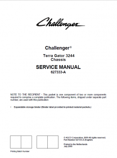 repair manuals Challenger Terra Gator 3244 Chassis Service Manual PDF