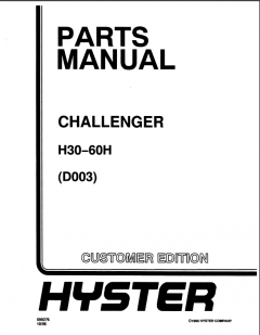 spare parts catalog, repair manual Hyster Challenger H30H, H40H, H50H, H60H (D003) Forklifts Parts + Service Manuals PDF