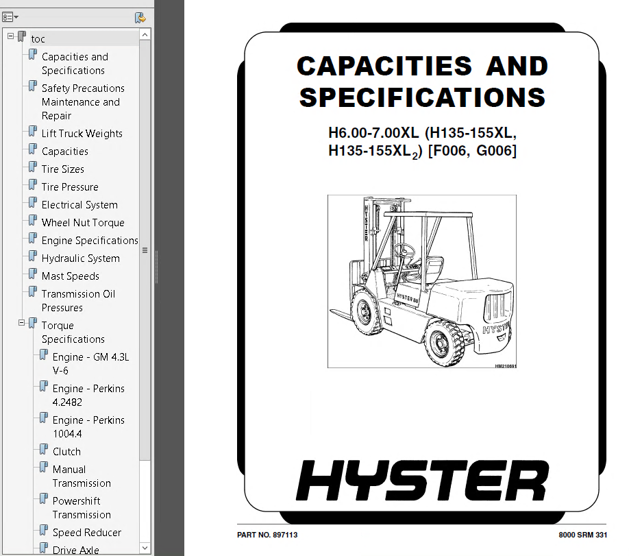 hyster h155xl manual