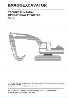 repair manuals Fiat Kobelco EX455 Tier2 Excavator Technical Manual PDF