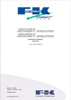repair manuals Fiat Kobelco E30SR, E35SR Evolution Excavators Workshop Manual PDF