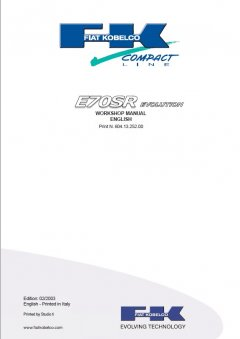 repair manuals Fiat Kobelco E70SR Evolution Excavator Workshop Manual PDF