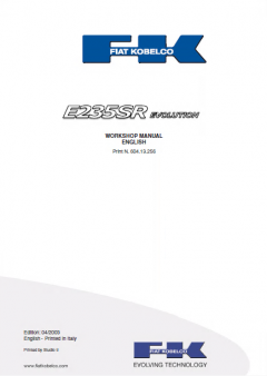 repair manuals Fiat Kobelco E235SR Evolution Crawler Excavator Workshop Manual PDF