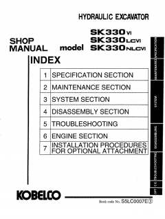 repair manuals Kobelco SK330 VI SK330LC VI SK330NLC VI Hydraulic Excavator Shop Manual PDF