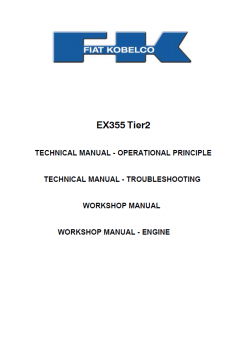 repair manuals Fiat Kobelco EX355 Tier2 Excavator Workshop Technical Manual PDF