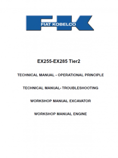 repair manuals Fiat Kobelco Ex255-Ex285 Tier2 Excavator Workshop Service Manual