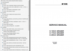 repair manuals Fiat Kobelco G140.B, G170.B, G200.B Graders Service Manual PDF