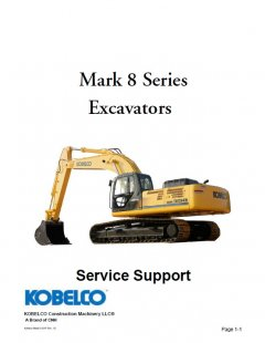 repair manuals Kobelco Mark 8 Series Excavators PDF Manual