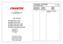spare parts catalogs Manitou MT Series Parts Manual PDF