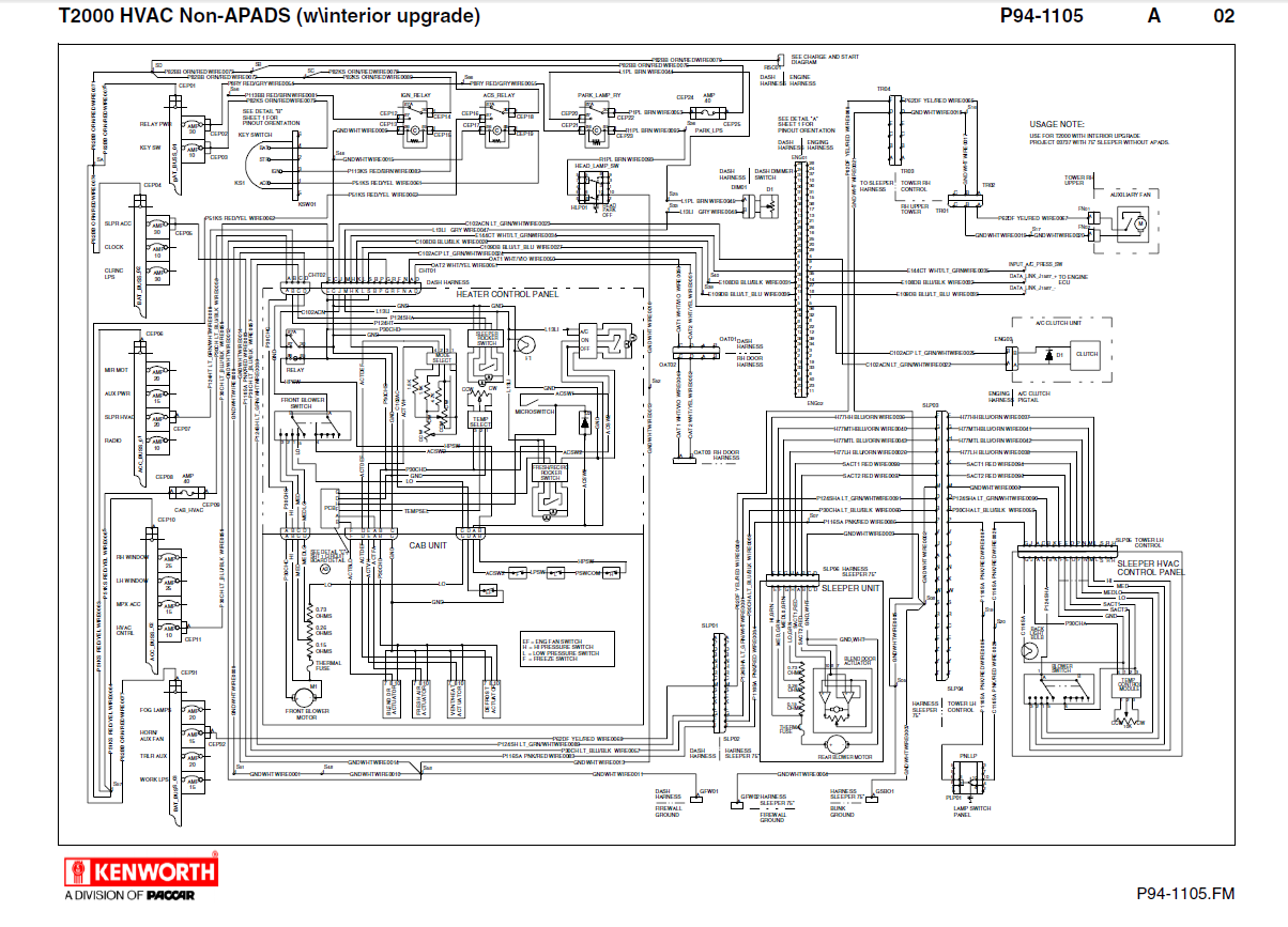 2007 kenworth w900 wiring diagram