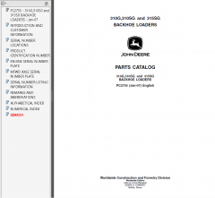 spare parts catalogs John Deere 310G 310SG 315SG Backhoe Loader Parts Manual PDF PC2755 PDF