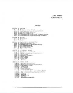 repair manuals John Deere 2140 Tractor Technical Manual PDF