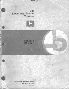 repair manuals John Deere 200 Series Lawn Garden Tractors Service Manual SM2105 PDF
