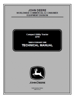 repair manuals John Deere 2210 Compact Utility Tractor Technical Manual TM2074 PDF