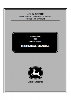 repair manuals John Deere 280 Skid Steer Loaders Technical Manual TM1749 PDF