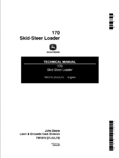 repair manuals John Deere 170 Skid Steer Loader Technical Manual TM-1075 PDF