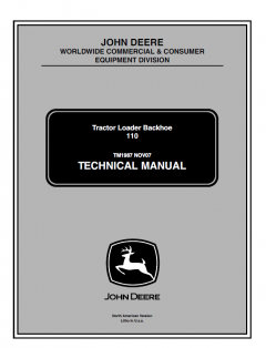 repair manuals John Deere 110 Tractor Loader Backhoe Technical Manual TM1987 PDF