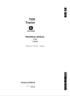repair manuals John Deere 7520 Tractor Technical Manual TM1053 PDF