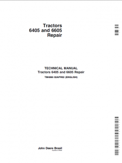 repair manuals John Deere 6405 & 6605 Tractors John Deere Repair Technical Manual TM-4866 PDF